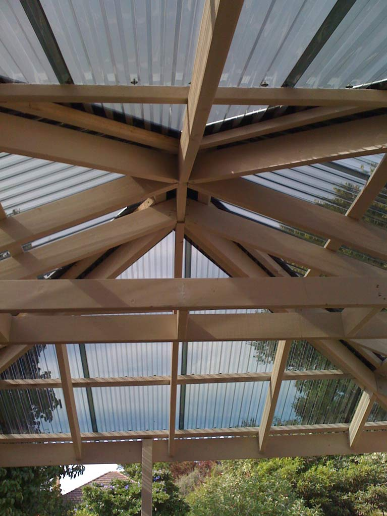 carli construction wooden frame holding glass roof
