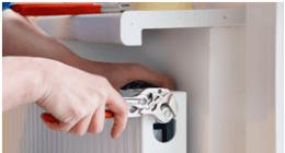 installazione radiatore