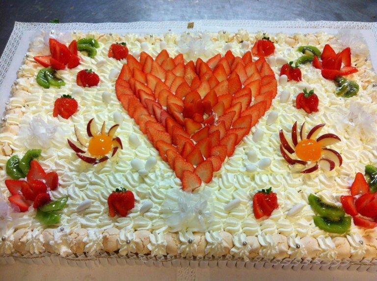 torta alla frutta battesimo
