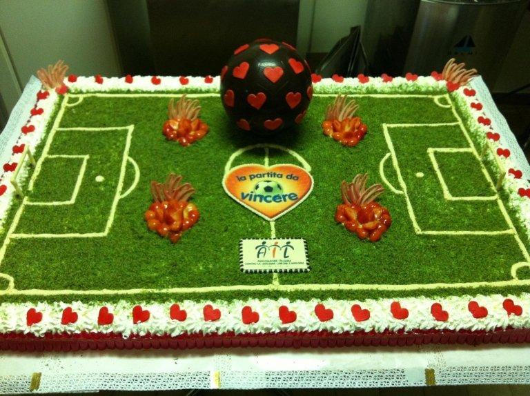 torta campo di calcio
