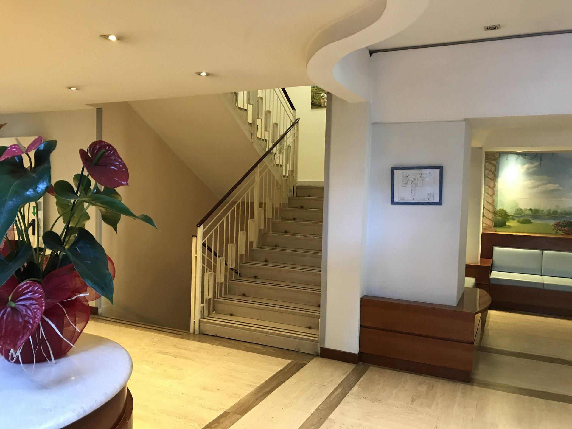 pianta in primo piano e scale all'interno della casa di riposo