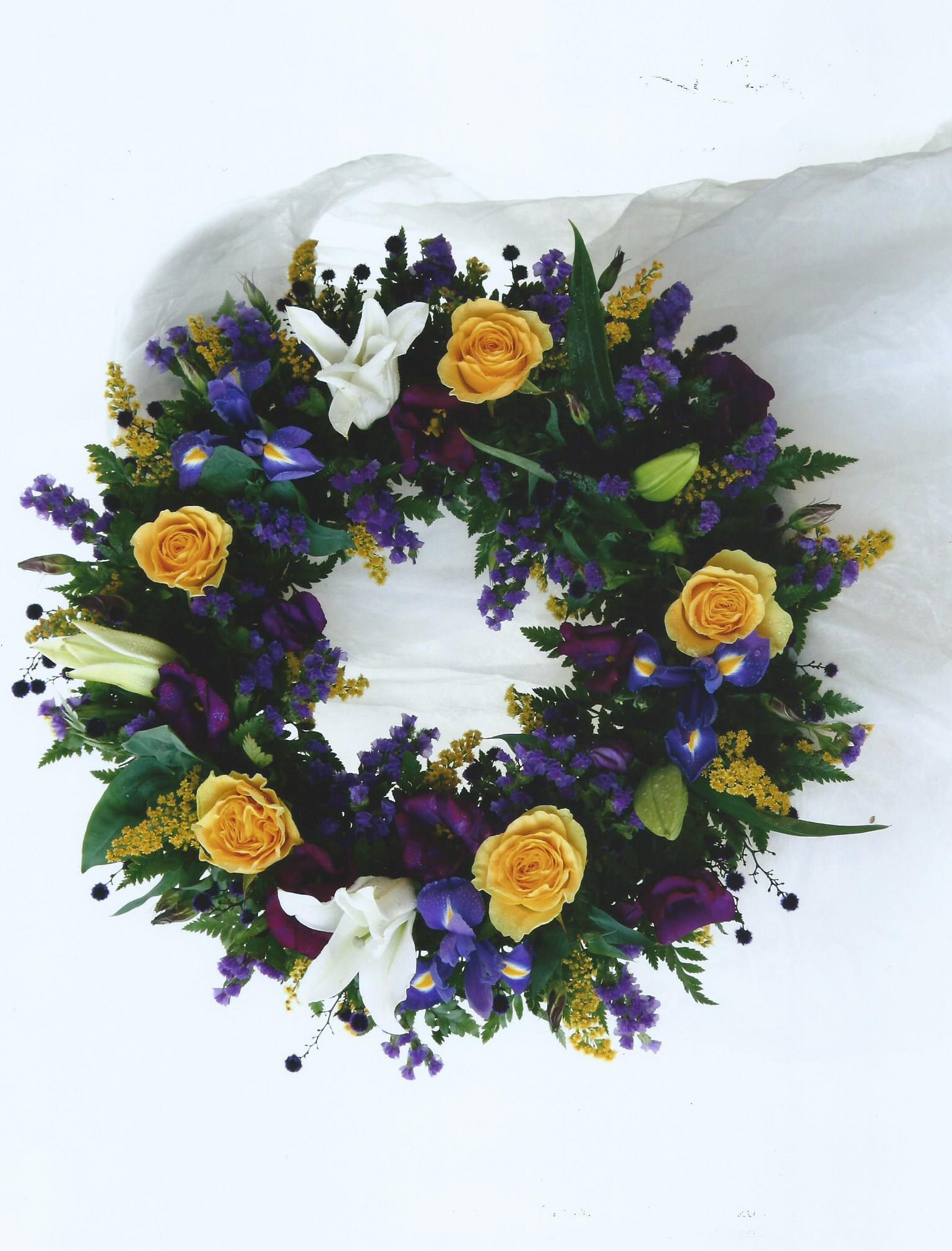 yellow rose wreaths