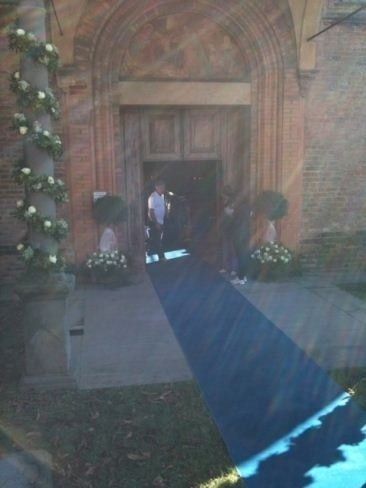 Addobbi ingresso chiesa