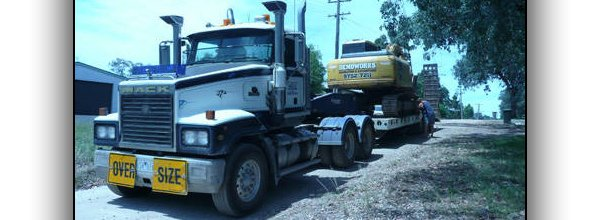 A truck used for site clearing services in Melbourne