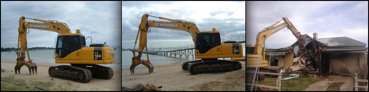 House demolition equipment in Melbourne