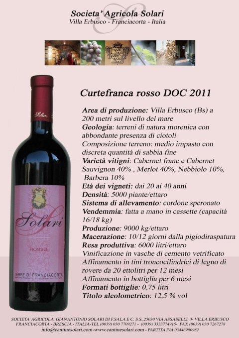 Curtefranca Rosso DOC 2011