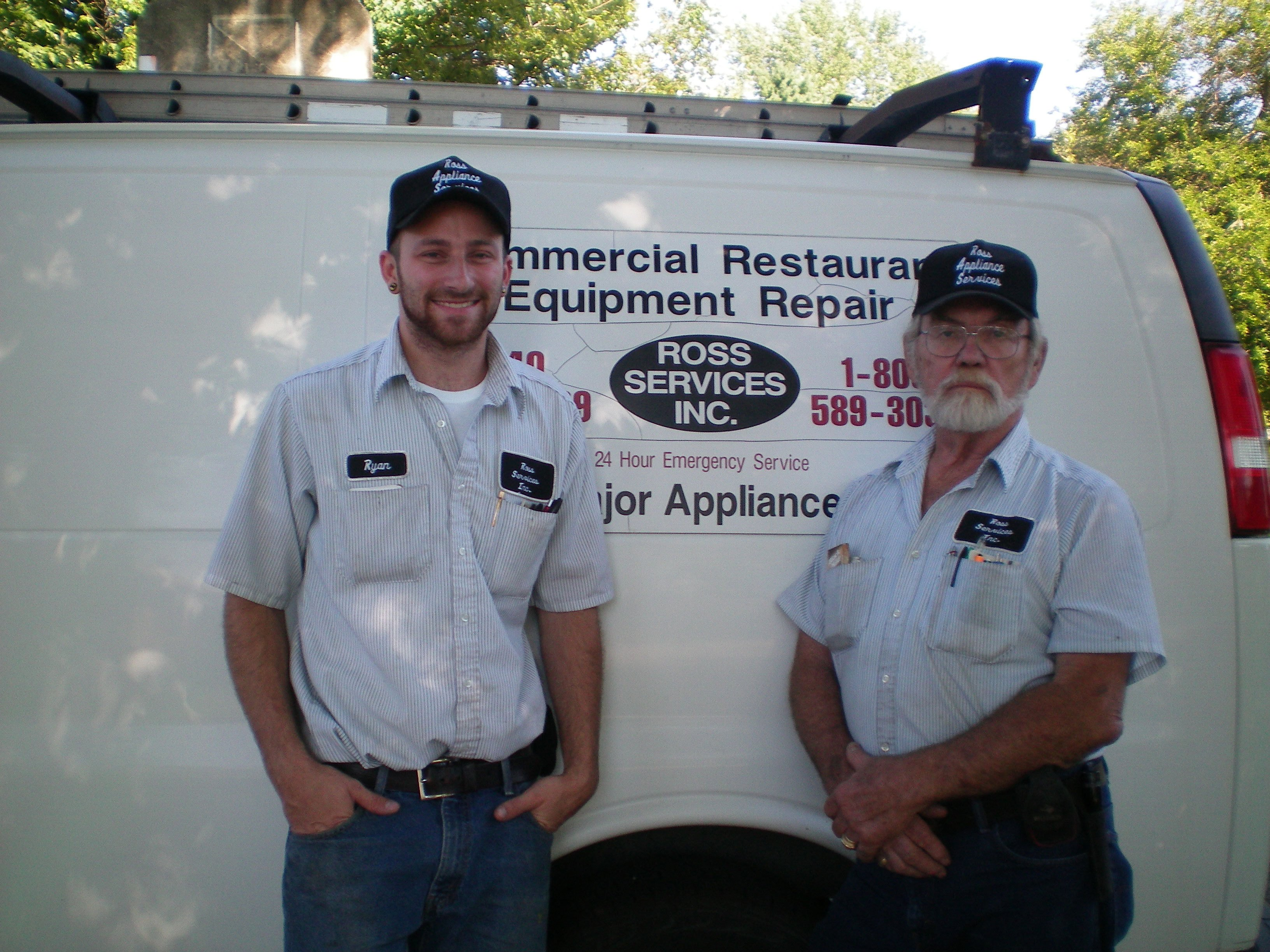 Employees of Ross Appliance Services providing dependable appliance repairs in South Amherst, OH