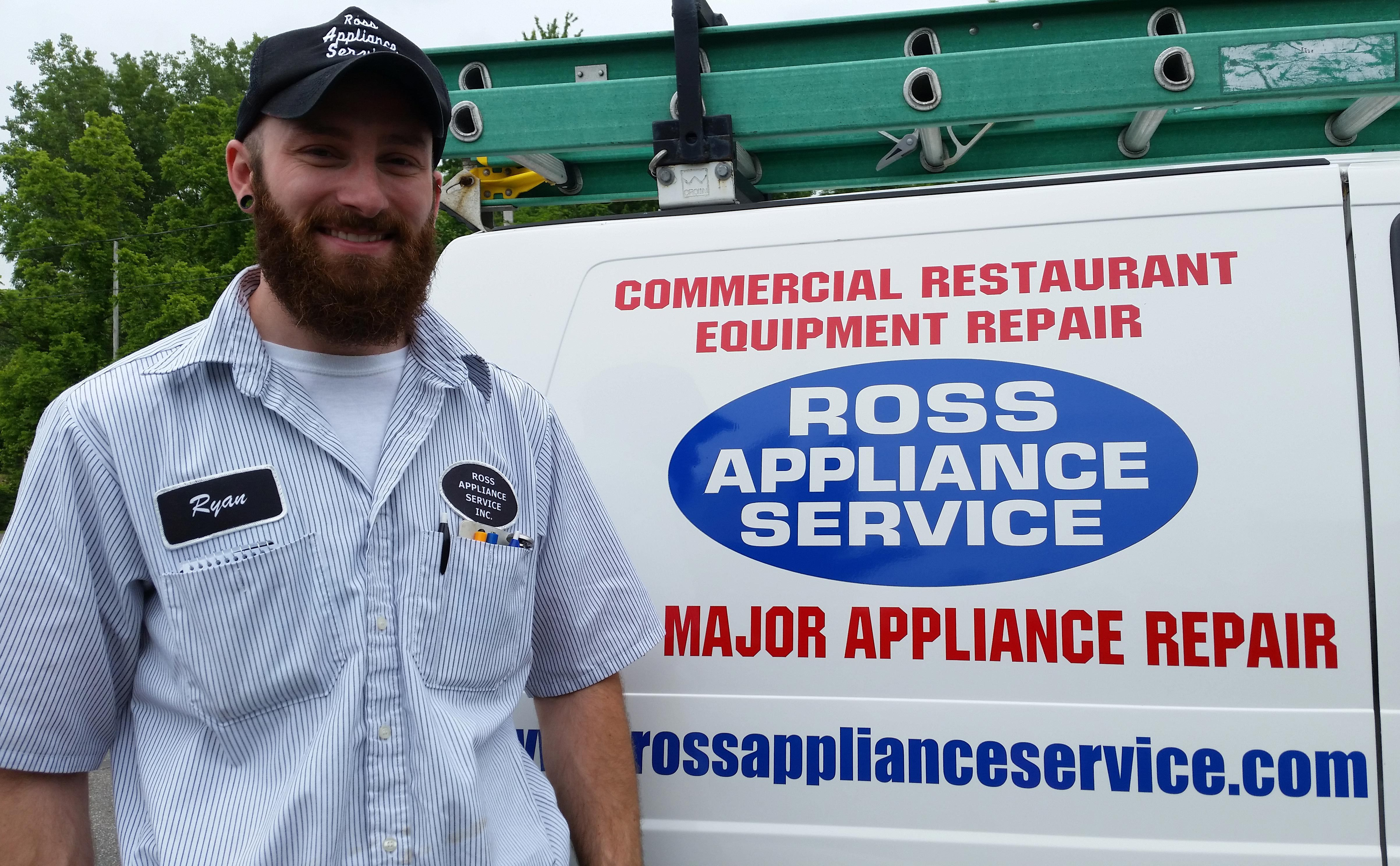Professional of Ross Appliance Services providing dependable appliance repairs in South Amherst, OH
