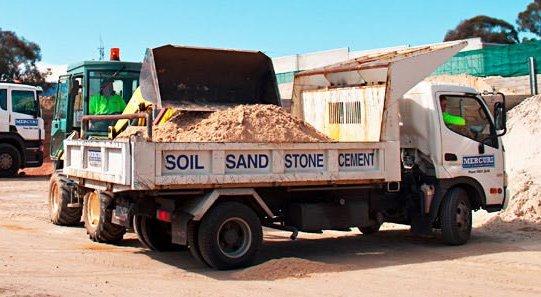 mercuri garden and building supplies delivering the building materials