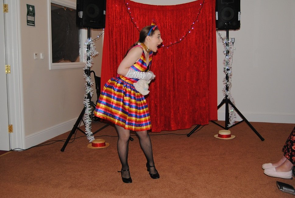 a lady performing