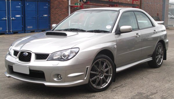 Close up of a Silver Subaru Impreza