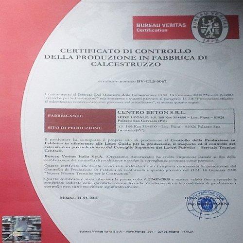 certificazioni calcestruzzo