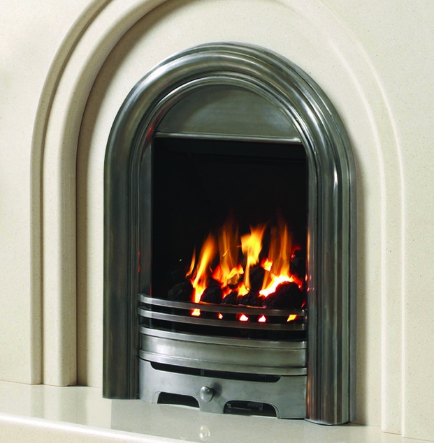 Be-Modern Abbey Inset Gas Fire (Available in Black or Silver)