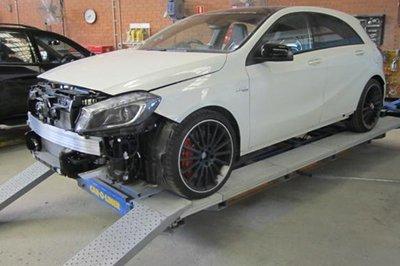 Car restoration in progress in Canberra