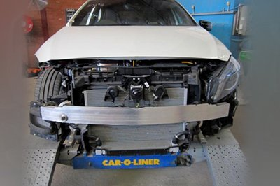 act auto body works  white car professional body repair service