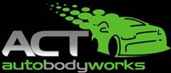 act auto body works business logo
