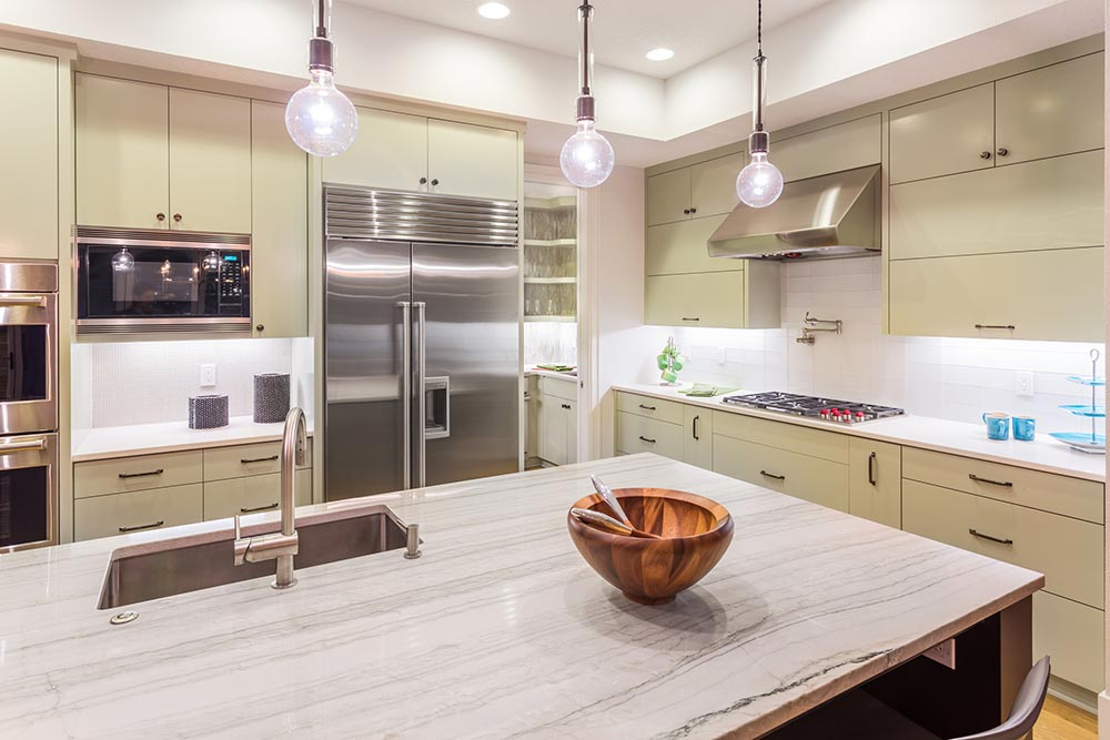 kitchen with bowl on countertop