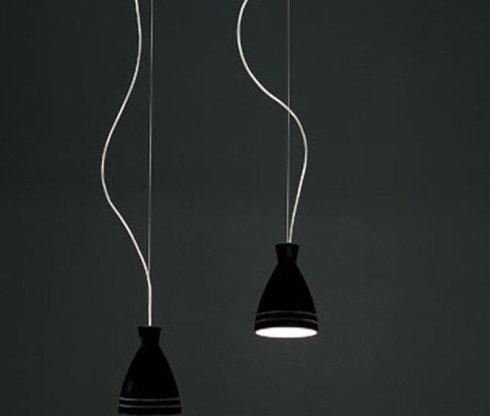 lampadario flaver nero doppio