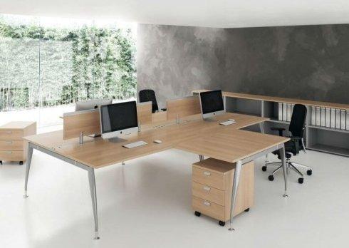 mobili per ufficio beige open space