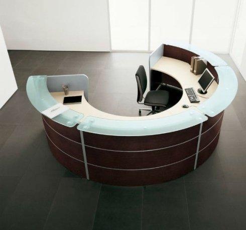 mobili per ufficio reception semi cerchio