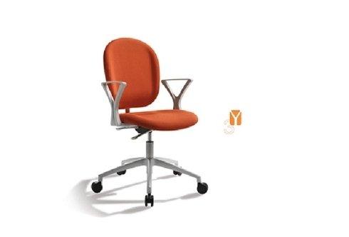 sedia da ufficio zago arancione