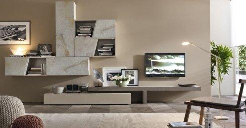 soggiorno mobilgam marmo