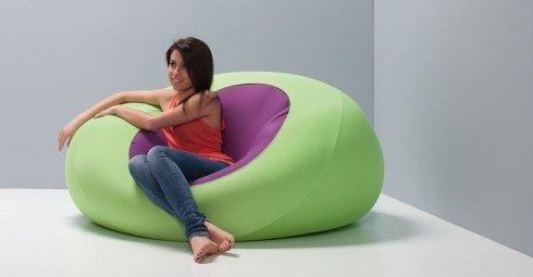 pouf sedit verde viola
