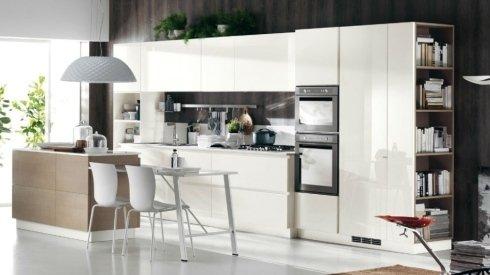 cucina bianca completa arredamento isola