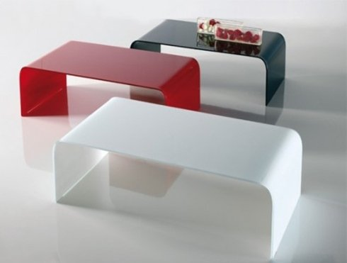 tavolino riflessi colori