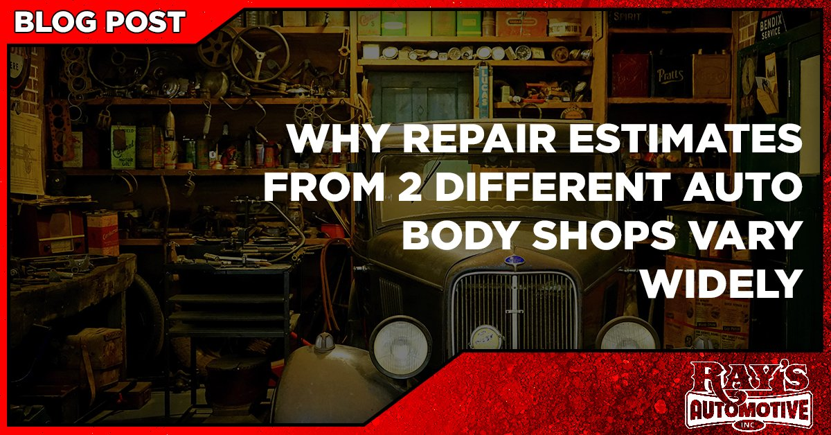 Why Repair Estimates From Two Different Auto Body Shops Vary