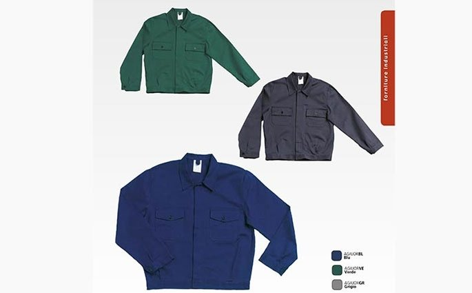 abiti industriali personalizzati