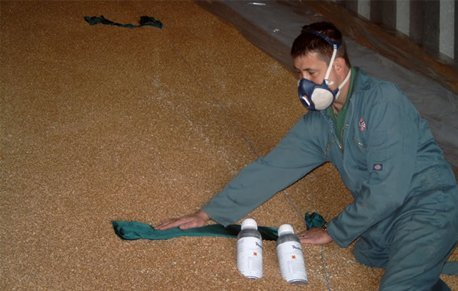 Man carrying out agricultural pest control