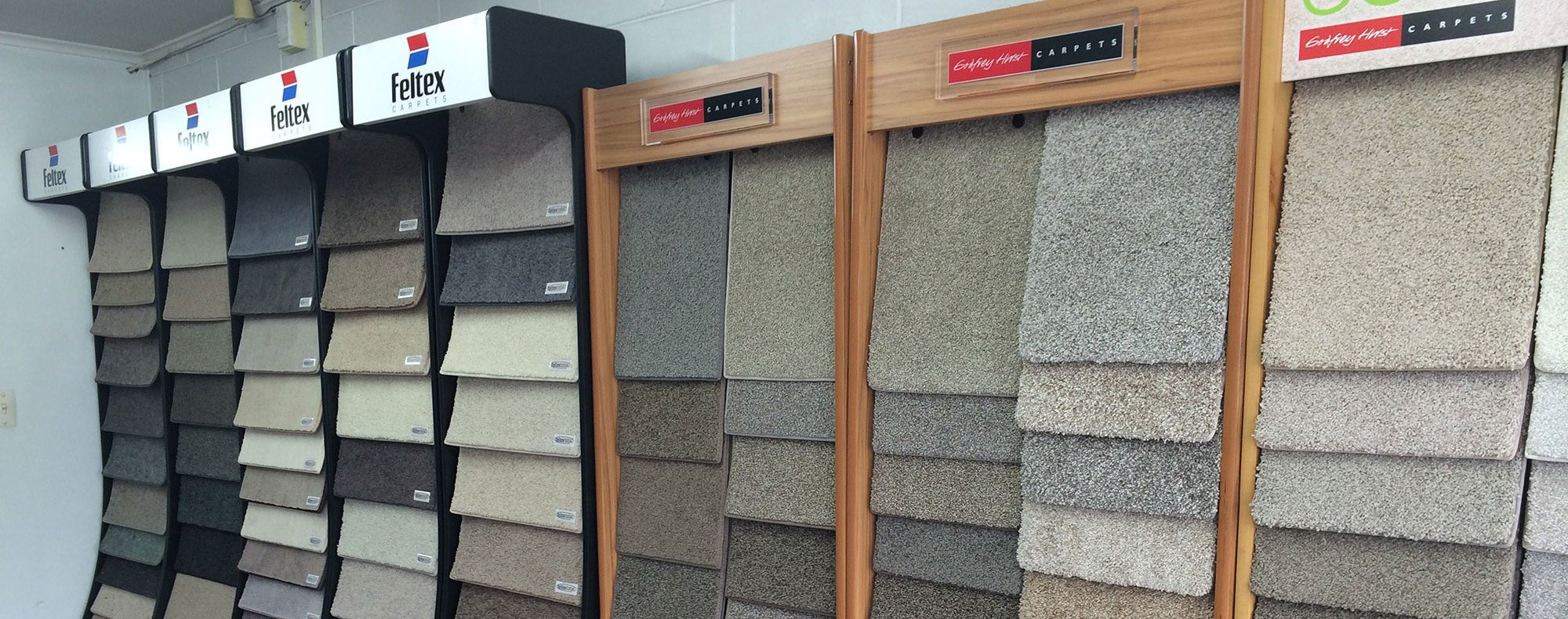 Showroom of leading carpet supplier in Auckland