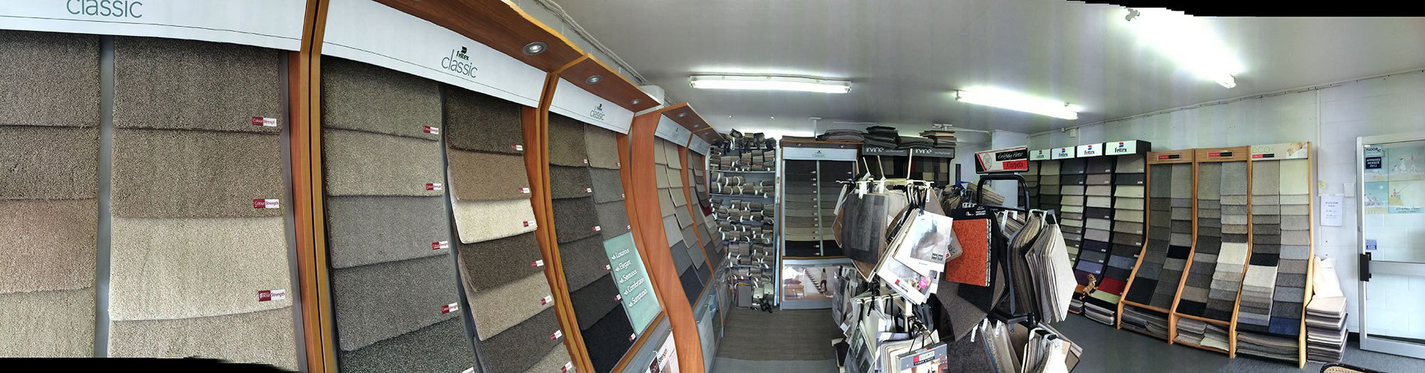 Showroom selling carpet, vinyl and rug installation in Auckland
