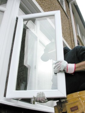 uPVC windows and doors - Worcester, West Midlands - Paul Newman Glazing - Installing window