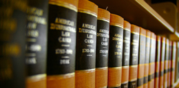 Personal injury and criminal law books kept in the office of attorney in West Plains, MO