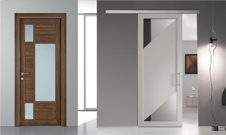 Porte interne ed esterne modena malmusi wainer - Porte interne in vetro scorrevoli ...