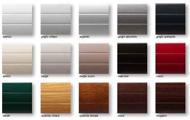 alcuni esempi di colori disponibili