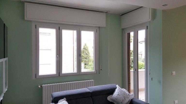 finestre in PVC con cassonetti