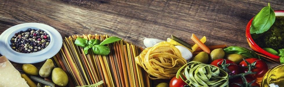 Menu primi piatti italiani
