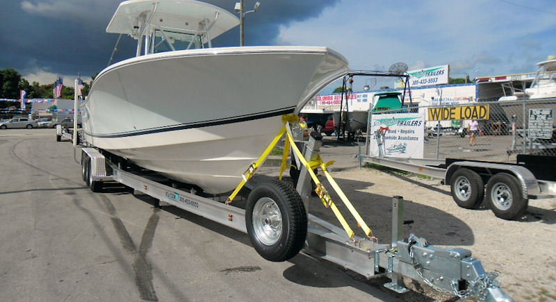 SEA-TECH Aluminum Boat Trailer for a 31 - 33' boat up to 15,000 lbs includes 3 sets of Kodiak disc brakes