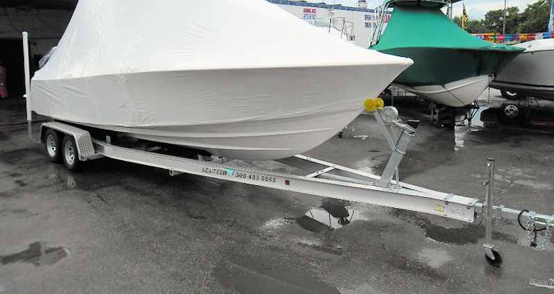 SEA-TECH Aluminum Boat Trailer for a 23 - 24' boat up to 7,000 lbs