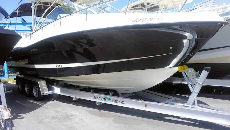 SEA-TECH Aluminum Boat Trailer for a 30 - 32' boat up to 15,000 lbs includes 3 sets of Kodiak disc brakes