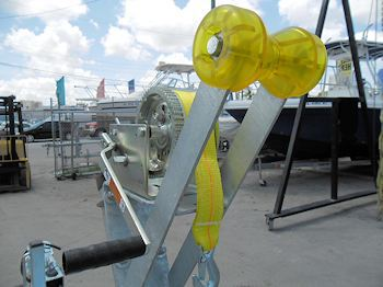 Bow Support Roller and Loading Winch