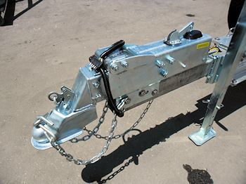 Hitch Coupler, Safety Chains, Wiring Harness, Brake Resevoir