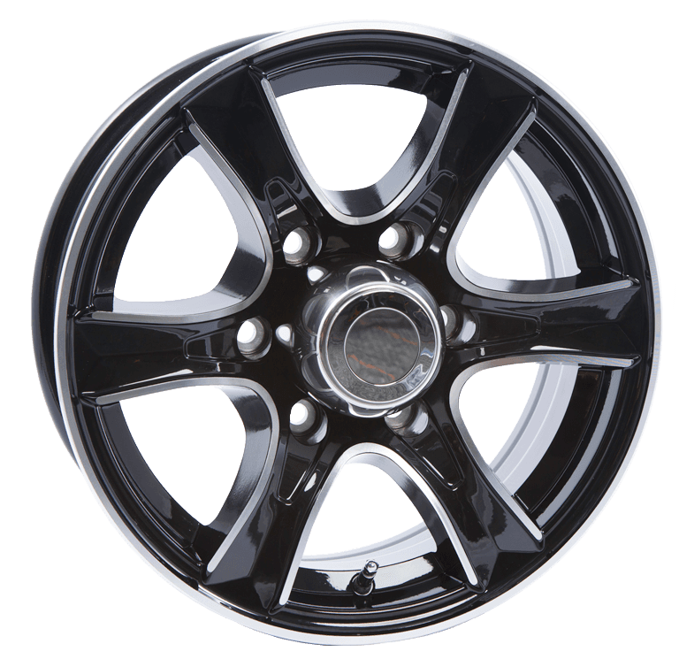 Thoroughbred 6 Lug Black