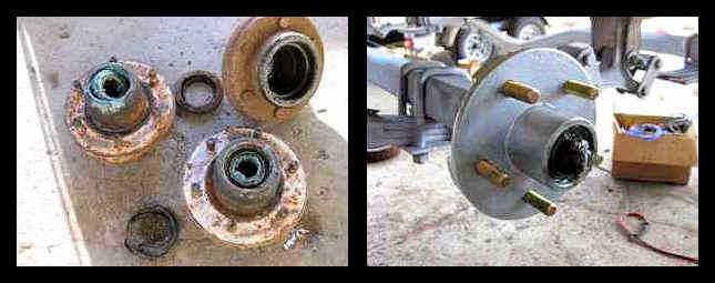 Boat Trailer Wheel Hub Repair