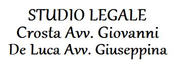 STUDIO LEGALE CROSTA AVV. GIOVANNI E DE LUCA AVV. GIUSEPPINA - LOGO