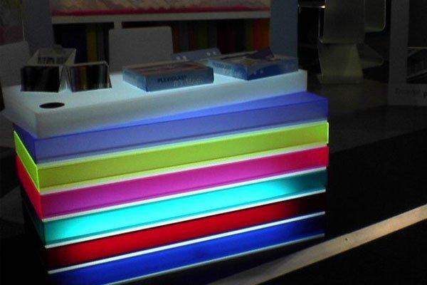 coloured plastic