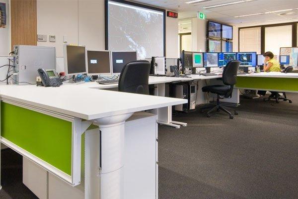 coloured office desk